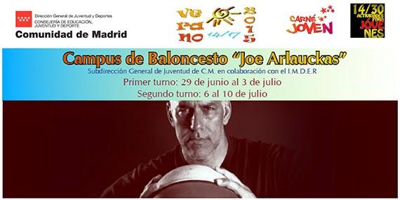 Campus Baloncesto 'Joe Arlauckas', en las Instalaciones Deportivas Canal de Isabel II