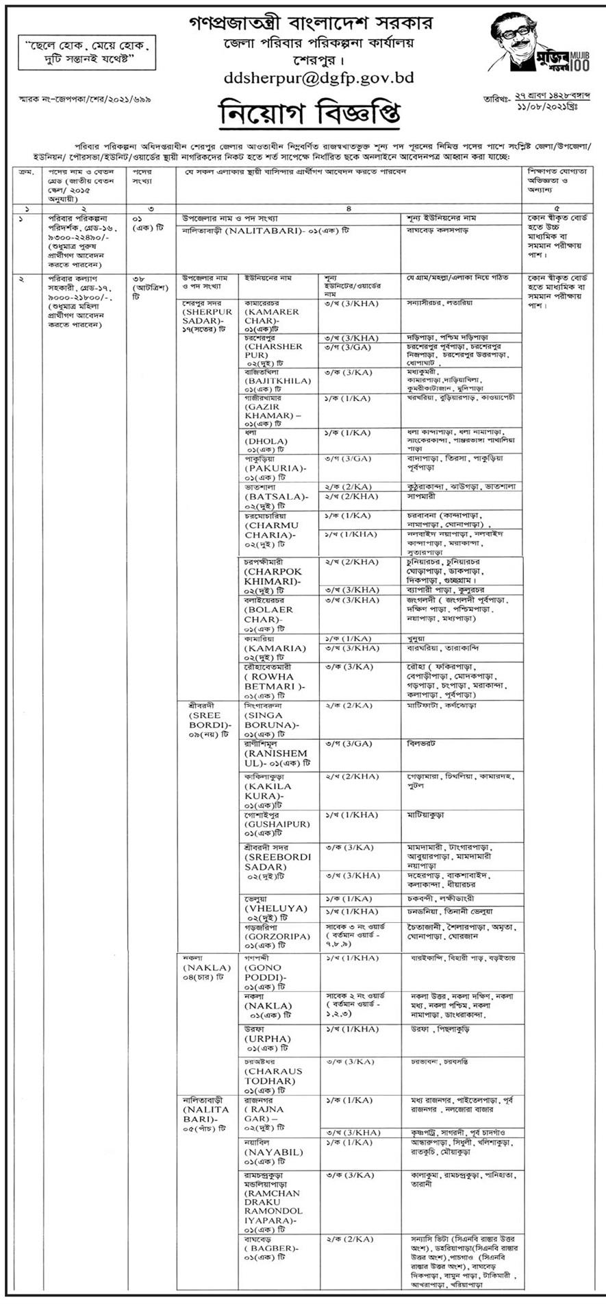 জেলা ও উপজেলা পরিবার পরিকল্পনা কার্যালয় নিয়োগ বিজ্ঞপ্তি ২০২১ - স্বাস্থ্য ও পরিবার পরিকল্পনা অধিদপ্তরে নিয়োগ বিজ্ঞপ্তি ২০২১ - Family Planning Job Circular 2021 - পরিবার পরিকল্পনা নিয়োগ বিজ্ঞপ্তি ২০২২ - poribar porikolpona job circular 2021 - পরিবার পরিকল্পনা নিয়োগ বিজ্ঞপ্তি ২০২১