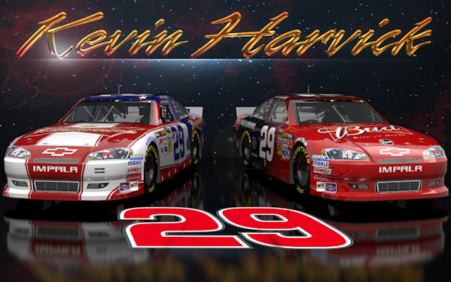 Kevin Harvick Budweiser Wicked Text Space Wallpaper