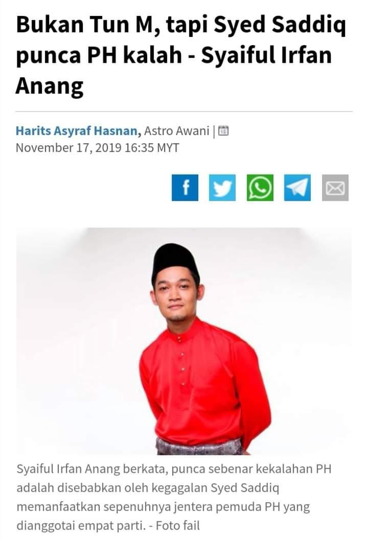 Salah Menyalah kekalahan di Tanjung Piai