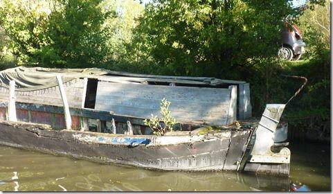 2 rotting boats
