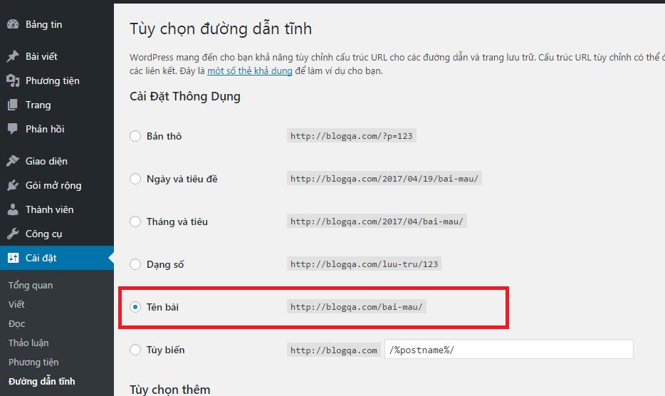 Hinh anh: Cai dat duong dan cho link tren website gon gang hon