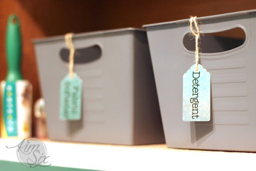 vintage industrial laundry room storage