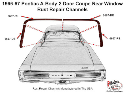 Now Shipping Rear Window Channel Rust Repair Channels for