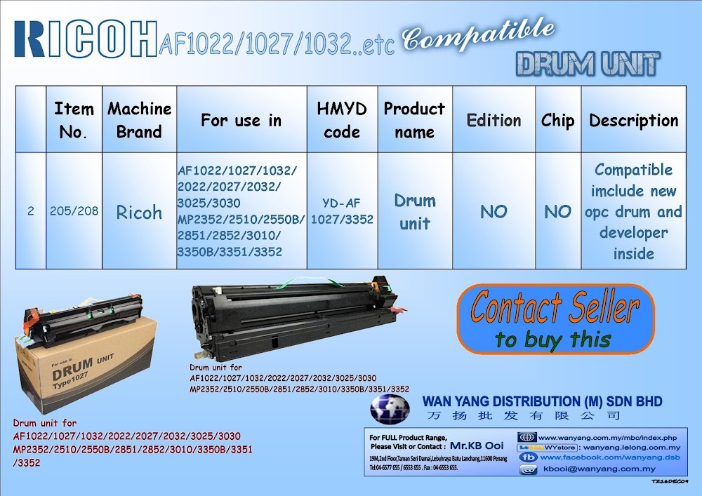 Ricoh AF1022/1027/1032 etc.Compatible Drum Units