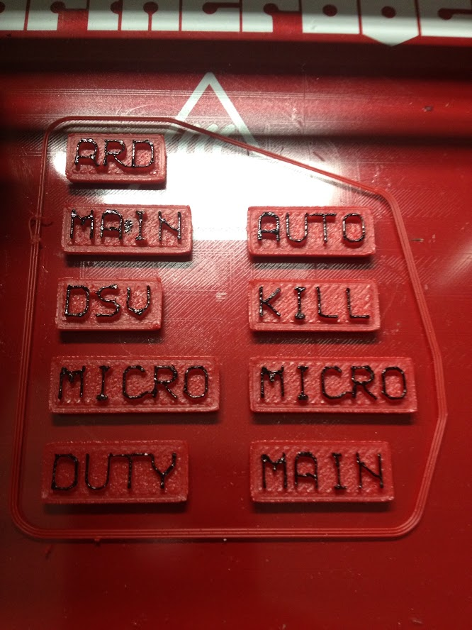 3D printed labels for controller