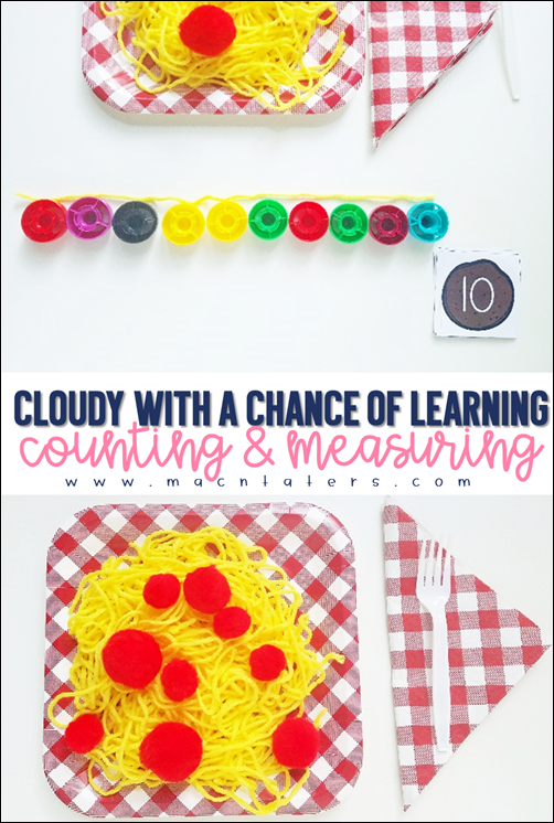 Cloudy with a chance of meatballs counting and measuring activity
