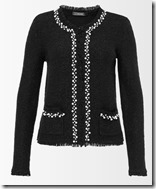Hallhuber lurex beaded cardigan jacket