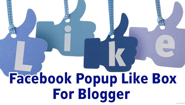 Facebook popup like box for blogger
