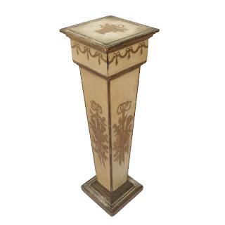 Polychrome Wood Pedestal