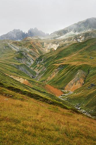 Traversée des Alpes, du lac Léman à la Méditerranée Gr5-mont-blanc-briancon-col-valle-etroite-vallon-2