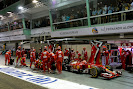 Pit stop for Kimi Raikkonen in his Ferrari F14T