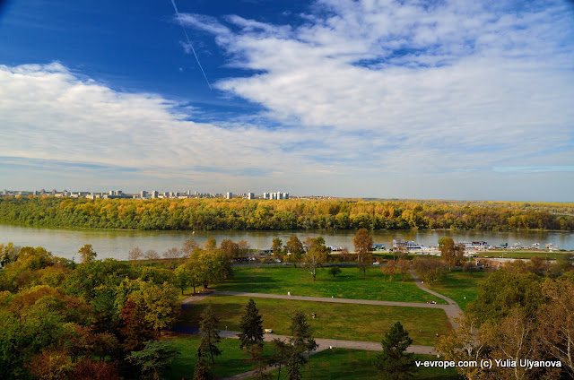 Вид на Дунай, Белград