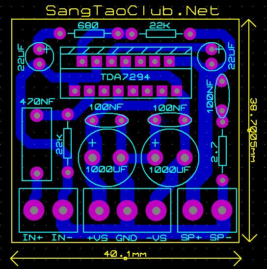 Mạch Ampli 100W dùng IC TDA7294 - SangTaoClub.Net