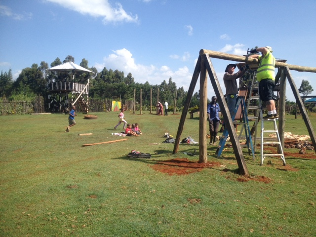 Bees In Kenya Day 1 Of Playground Revitalization