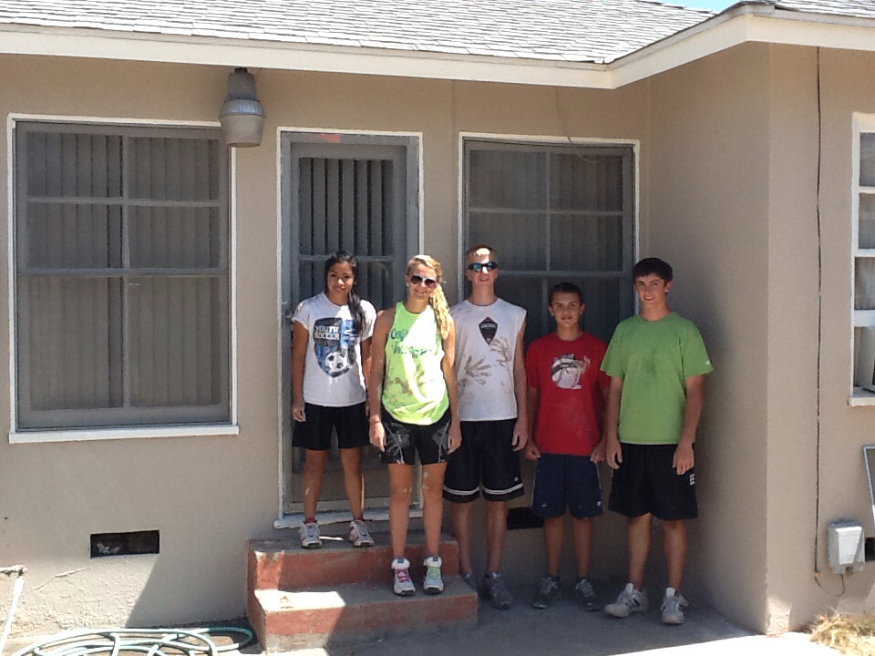 First Pres Oostburg Youth Ministry: House Painted? Check!