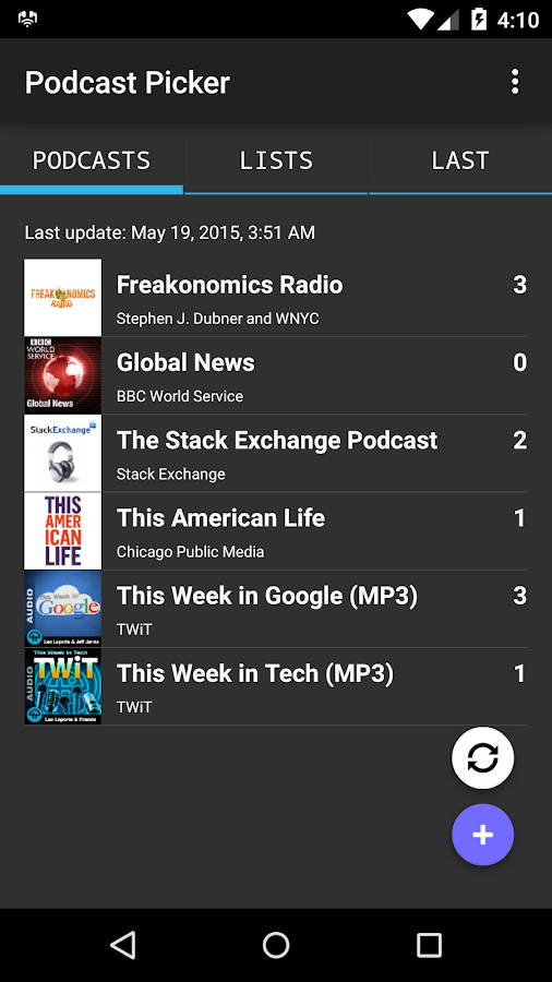 Podcast Picker- screenshot