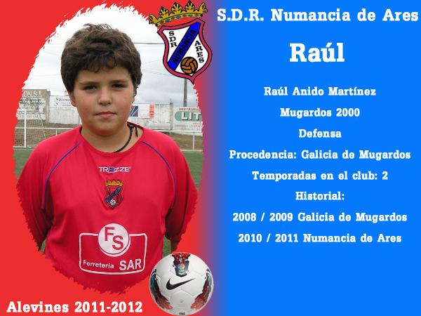 ADR Numancia de Ares. Alevíns 2011-2012. RAUL.