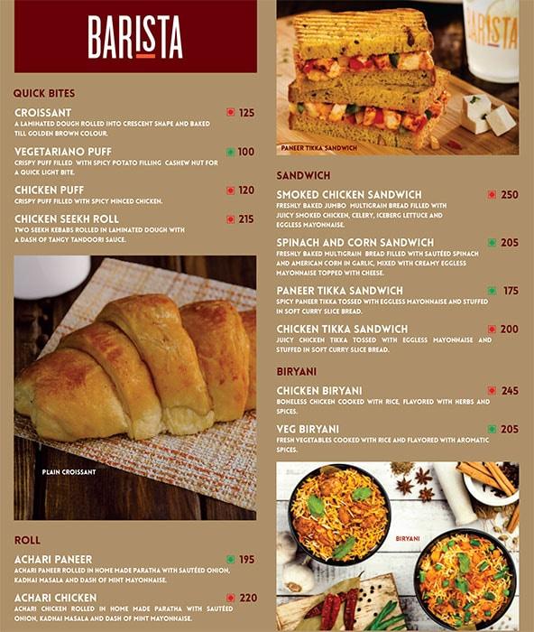 Barista menu 4