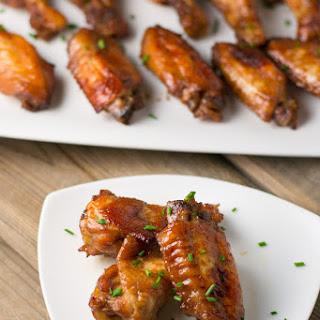 Baked Honey Garlic Chicken Wings.