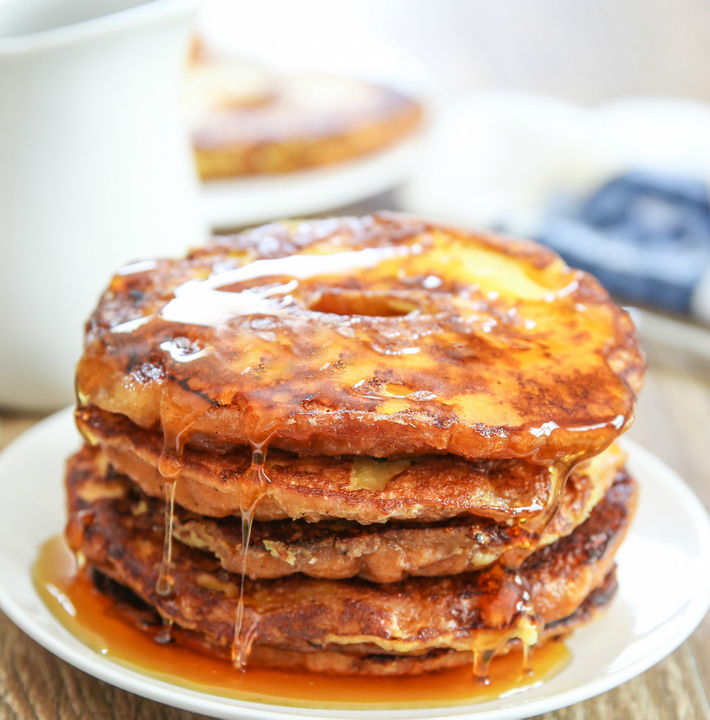 close-up of french toast pancakes