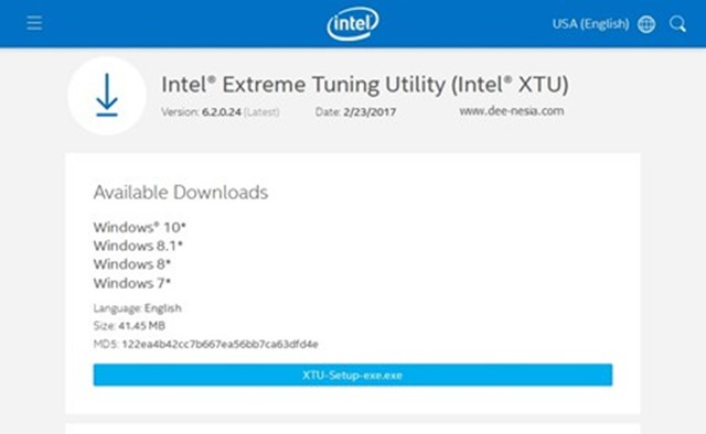 Download Intel XTU Intel Extreme Tuning Utility Terbaru