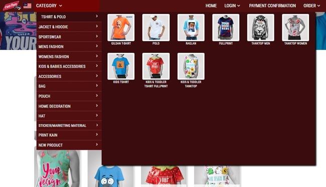 cara shopping di custom online