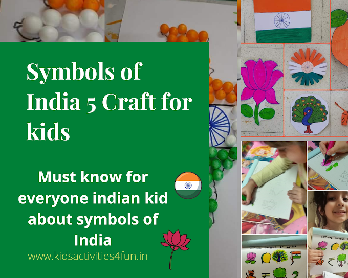 Symbols of India simple 5 craft for kids & Must know for every Indian kid about symbols of INDIA