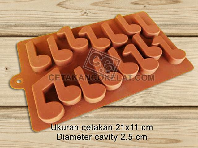 cetakan coklat cokelat silikon not lagu musik SIL074 SIL74
