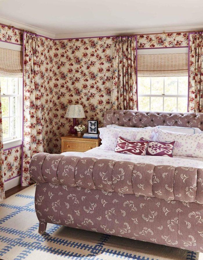 dormitorio de invitados en la casa de caroline gidiere en alabama