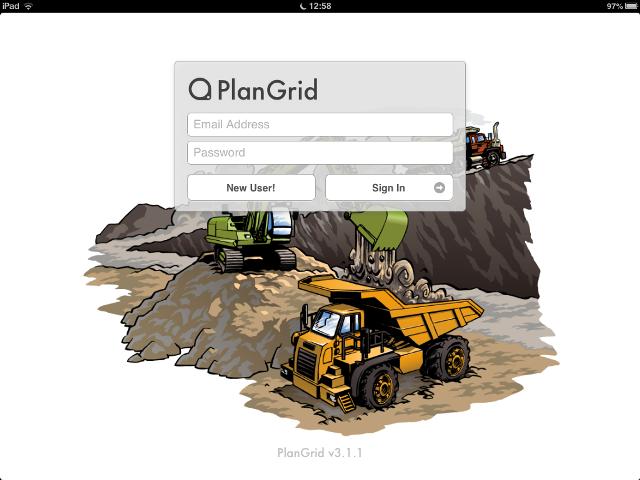 Apps de Construcción - Pantalla de Inicio PlanGrid