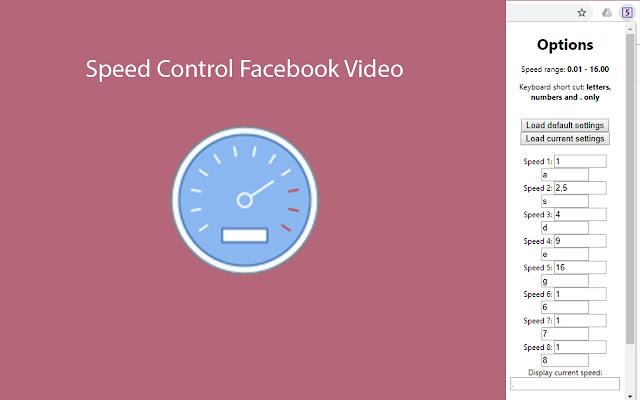 Speed Control Facebook Video