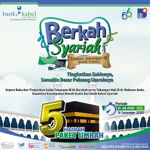 Mau Umrah Gratis, Ayo Menabung di Bank Kalsel Syariah