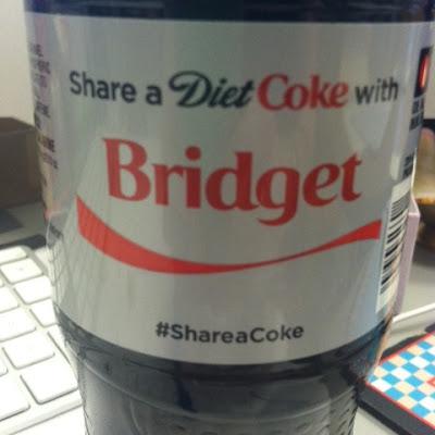 diet coke share a coke with bridget
