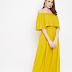 Berrylush Women Yellow Solid Maxi Dress