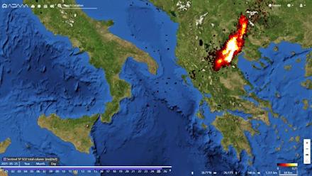 Μεγάλη ποσότητα διοξειδίου του θείου από την Αίτνα καταγράφηκε χθες πάνω από την Κεντρική Μακεδονία