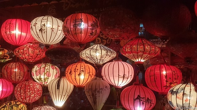 Beautiful handmade paper lanterns for sale in Hoi An.