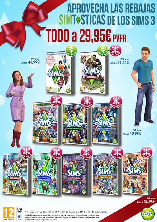 Oferta sims 3 enero 2013
