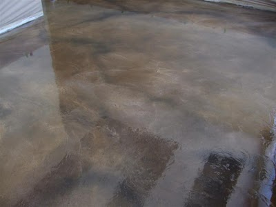 Custom Concrete Floors LTD Gallery Clear Epoxy Over Textured Overlay - Clear epoxy over tile