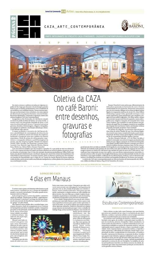 Página da Caza - 13 de Julho de 2012