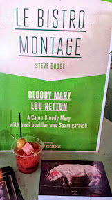 Le Bistro Montage (2013 Judges' Choice Champion) Steve Dodge brought their Bloody Mary Lou Retton, a cajun bloody mary with beef bouillon and Spam garnish at Portland Monthly's Country Brunch 2014 at Castaway benefiting Zenger Farm