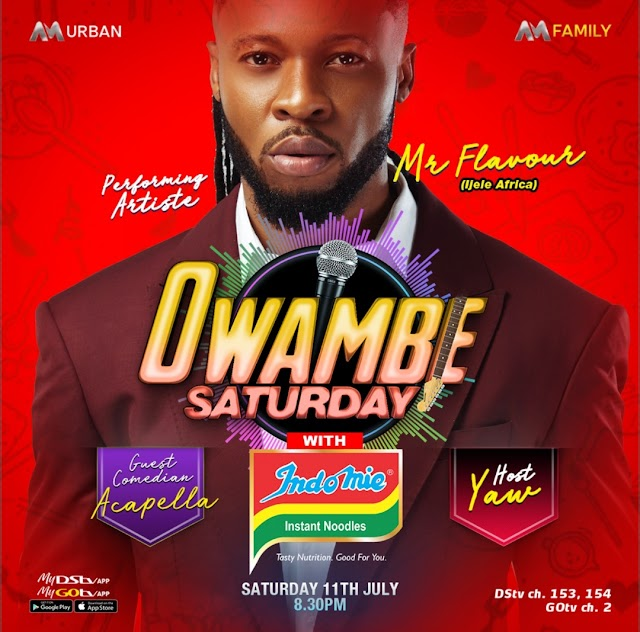 Experience The Best Of Mr Flavour On Africa Magic Owambe This Saturday ~Omonaijablog
