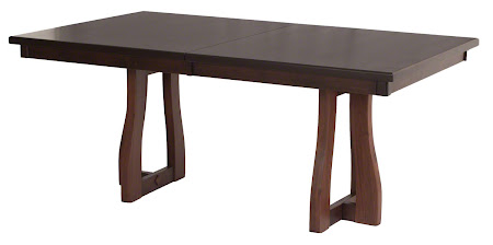 Brewster Dining Table in Mocha Walnut