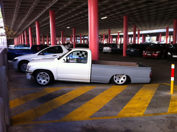 lowered ute
