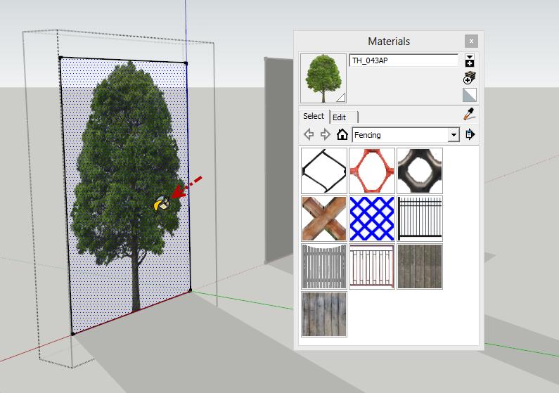 การกำหนดค่า Material ของต้นไม้แบบ 2D ให้มีความโปร่งใส Vraytree17