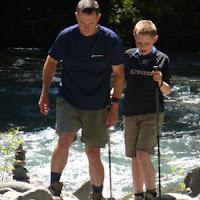 Father/Son rock jenga