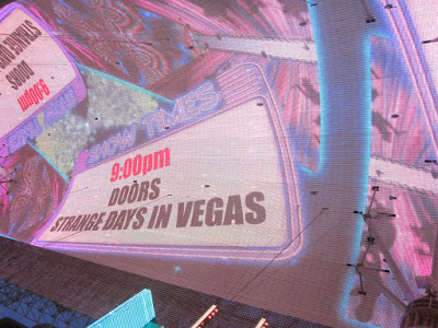 downtown lasvegas led sign showtime stock photo
