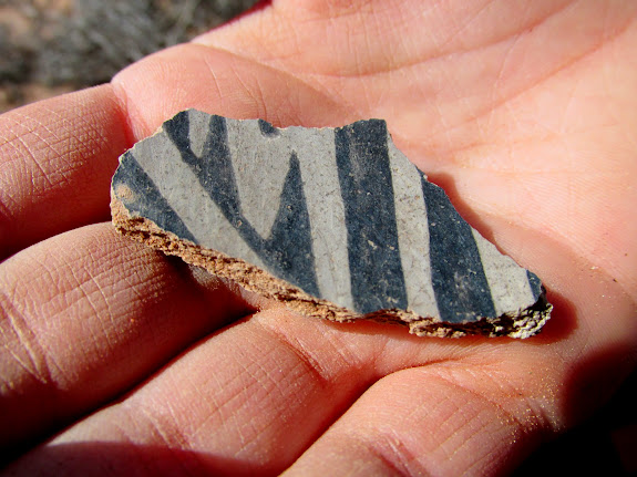 A piece of pottery that Bradley found