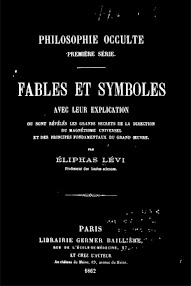 Cover of Eliphas Levi's Book Philosophie Occulte, Fables et Symboles (1862,in French)