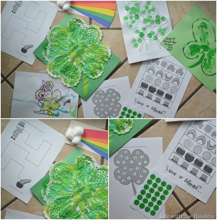 St Patricks Day Preschool Activities Collage